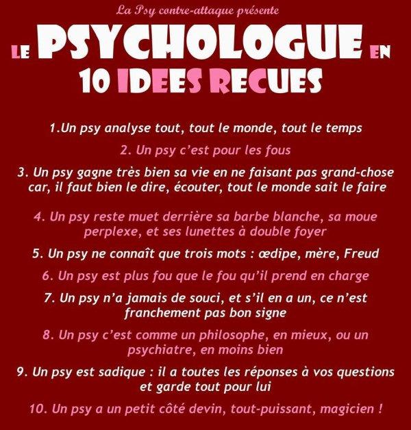 Le psychologue en 10 idées reçus