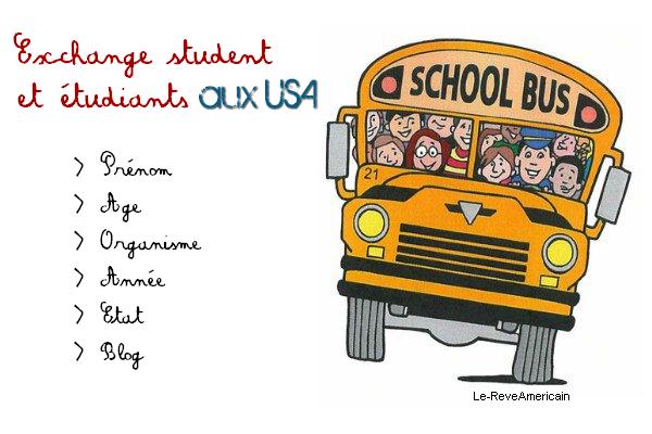 Exchange student ou étudiant aux USA