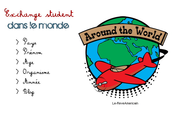 Exchange student dans le reste du monde