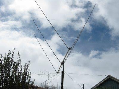 ma nouvel antenne,une delta loop 3 elements