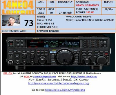 contact du 12/11/2011 de 173 vl 001 avec 14 ne o4 laurent