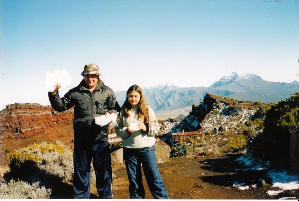 bernard et elsa (neige a la reunion 2003)