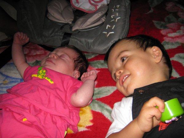 bernard et ces petits enfants(naomie et waren)