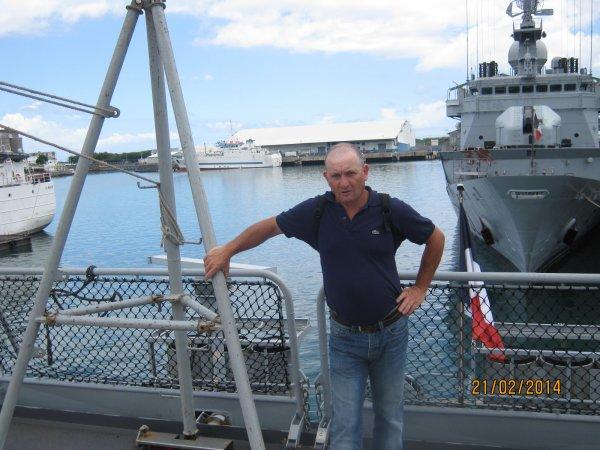 sur un bateau de la marine nationale