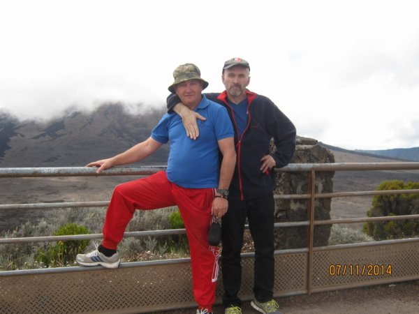 bernard et stephane au volcan de la reunion