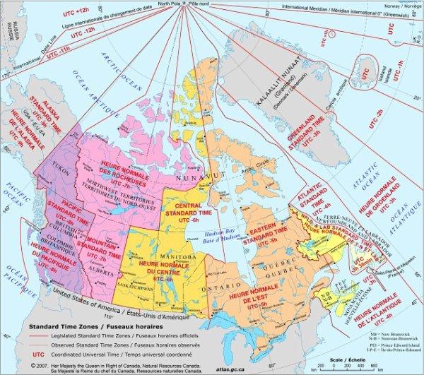 Canada quelle heure est il voyages travers le monde - Heure canada quebec ...