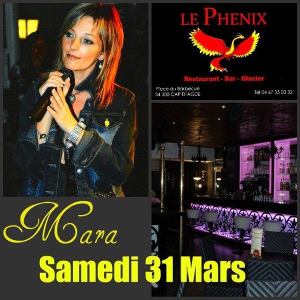 Mara en concert le 31 mars au Cap d'Agde