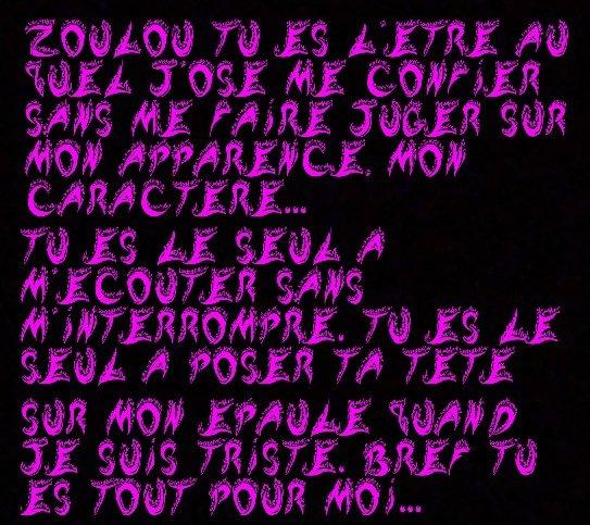 Voilà ! Pour Mademoiselle-Zoulou