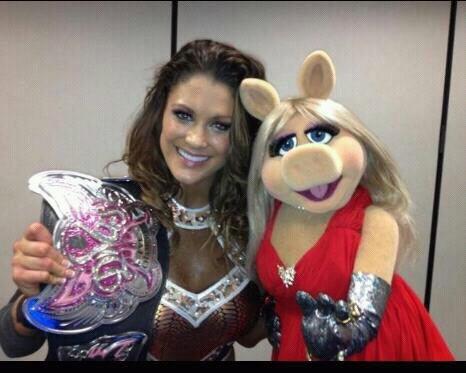 Eve Torres & Miss Piggy