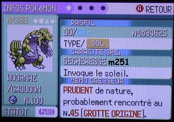 Groudon Shiney Level 100