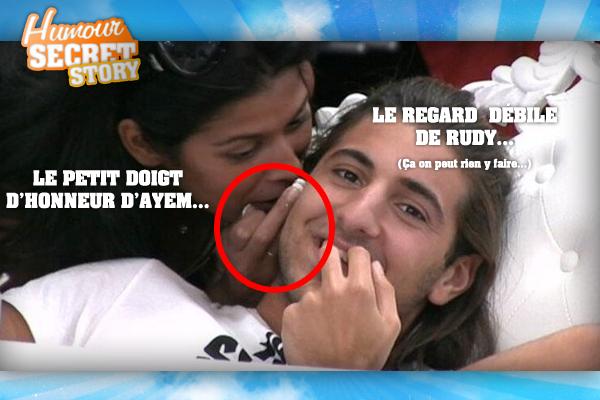 Cette image aurait pu être censuré, mais pas pour le doigt d'honneur d'Ayem.. mais plutôt pour la tête de Rudy..