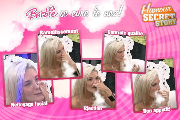 Barbie fait son grand nettoyage de fin d'été de ses voies nasales.