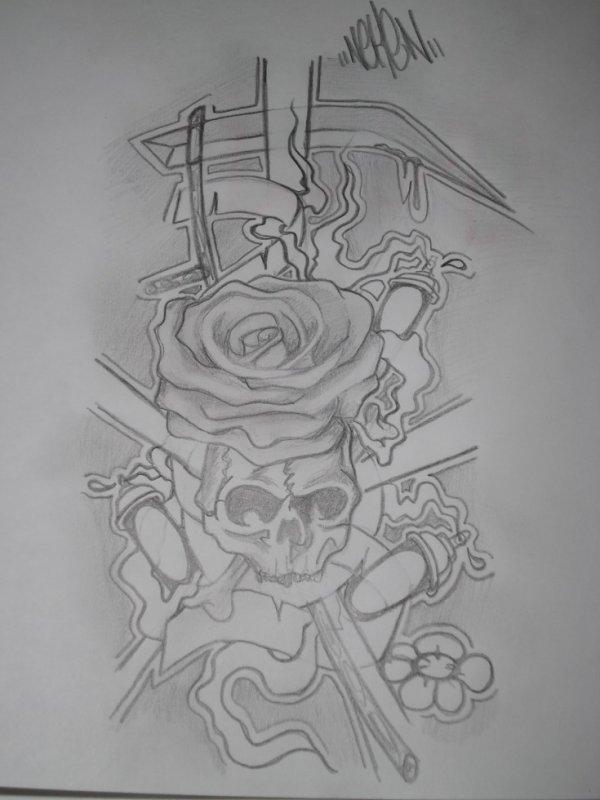 sckull factory par moi idée tatouage neken