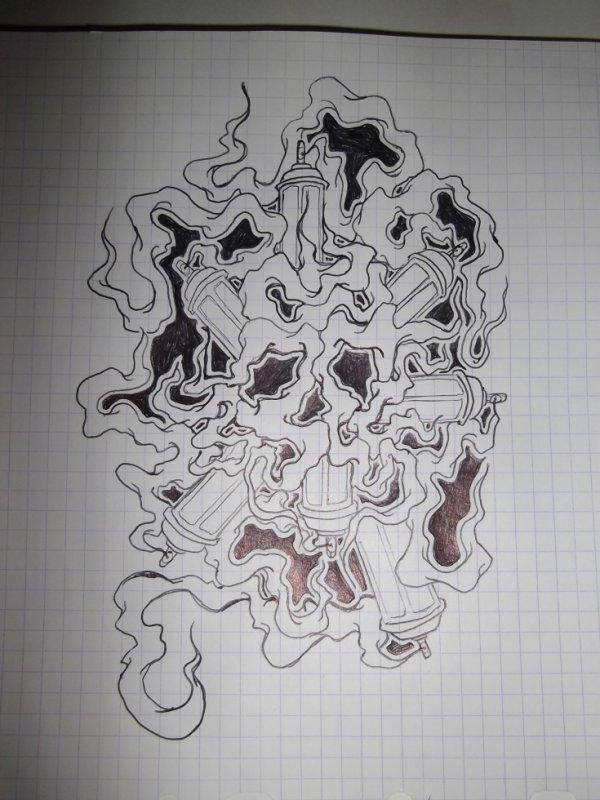 crane de fumé neken graffitie graff tattoo
