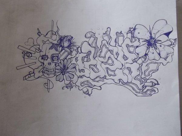 neken florale lol tattoo graff