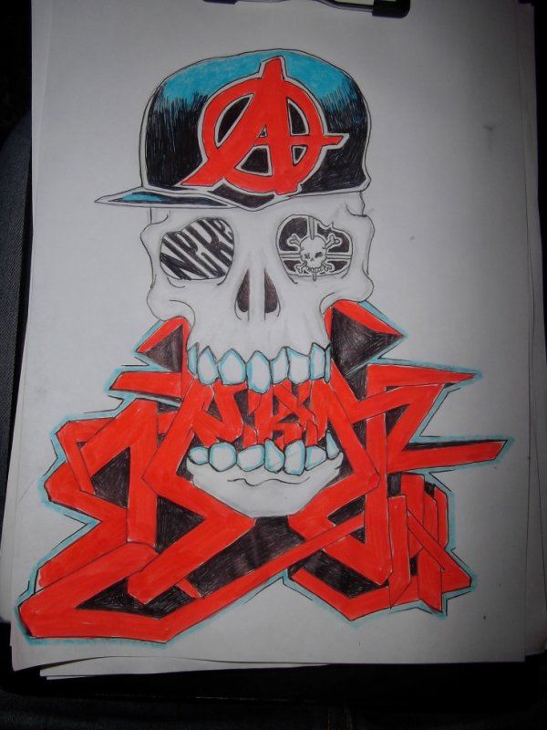 sckull by neken anarchie graffeur