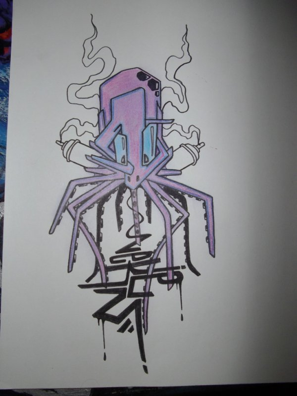 poulpe graff neken dessin