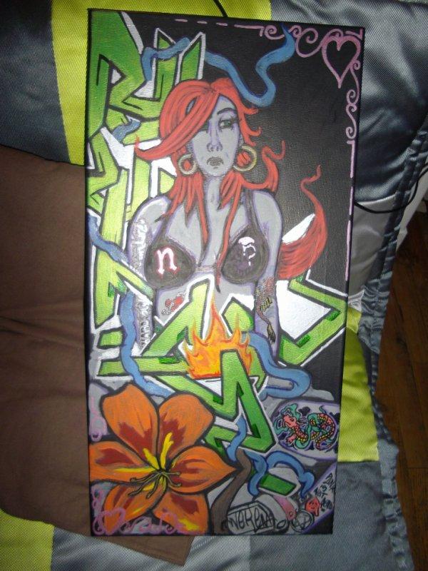 neken lov girl tattoo graff tableau