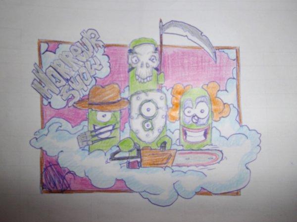 horreur show party 2 by neken graffiti