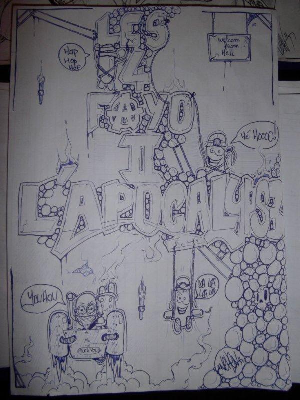 les 4 fayo de l apocalipse neken graffiti