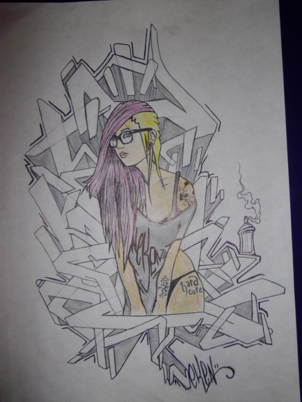 pin up graffiti neken dessin tattoo