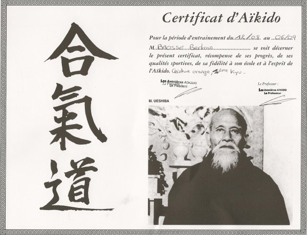 a63e7bbb0324 certificat d aikido ceinture orange - Blog de aikido-bb