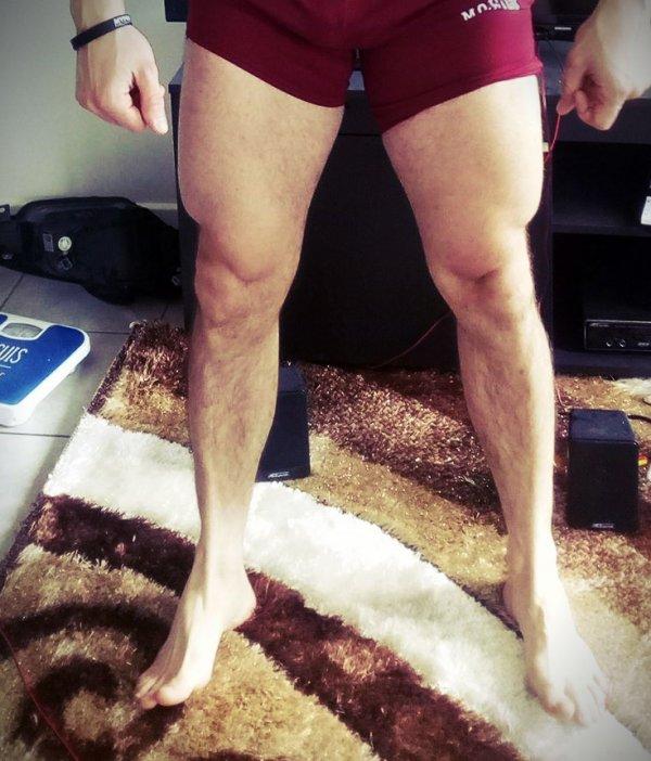 Séance du mercredi, jambes, mollets et abdominaux.