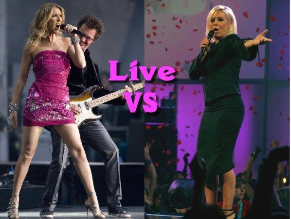 Live - Céline Dion VS Kim Wilde