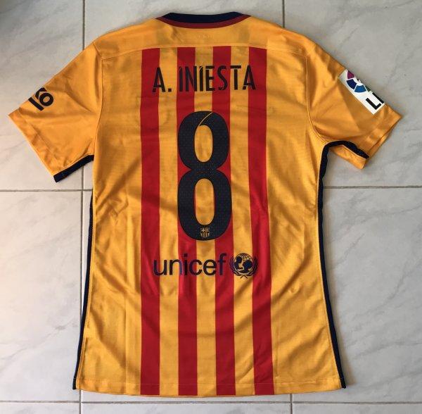 Maillot de Andrés INIESTA - FC BARCELONE 2015-2016