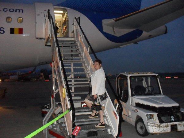 ma moter en avion pour la premieere foi