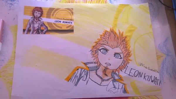 J'ai dessiner Leon Kuwata de Danganronpa 1 !!(j'aime trop ce mec srx😍😍😍)Vous le trouvez comment ?