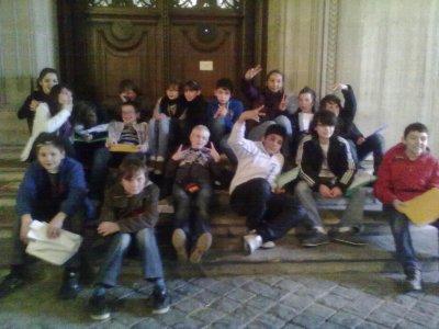 #. Au Louvre avec la 6éme D ... ♥