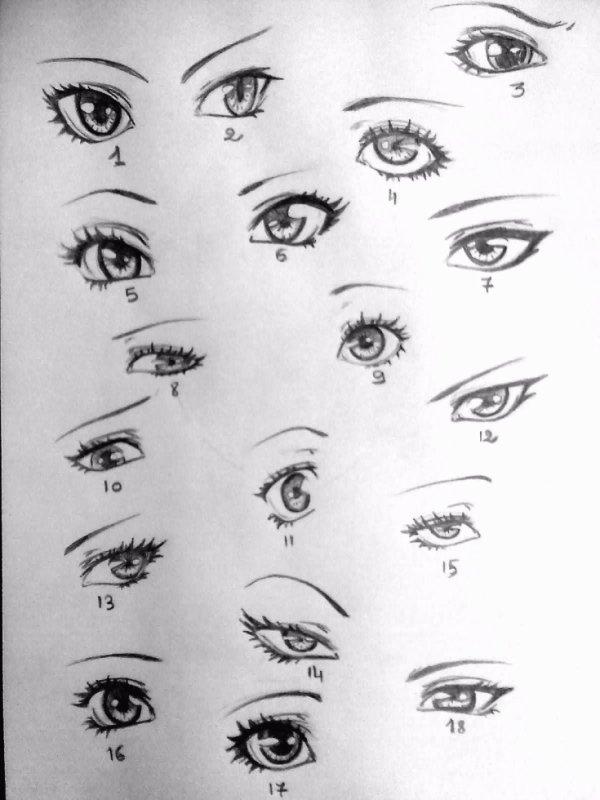 yeux mangas vous pr f rez laquelles dessin fait par siham bouyerbou siham 39 s. Black Bedroom Furniture Sets. Home Design Ideas