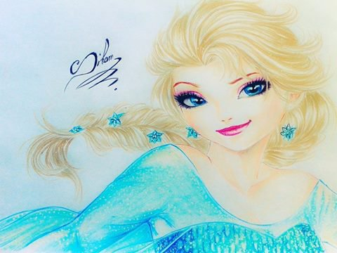 Elsa ( dessin de Siham Bouyerbou )