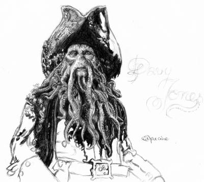Davy jones dessins et moi en folie - Tete de pirate dessin ...