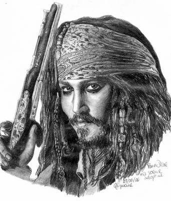 Jack sparrow johnny depp dessins et moi en folie - Dessin johnny depp ...