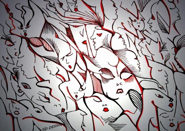 Les bouches rouges...