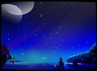 les yeux rivé sur les étoiles ...