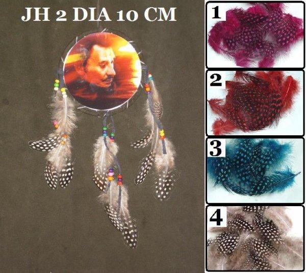 JOHNNY HALLYDAY DIAMETRE 10 CM PRIX 4 EURO L'UNITER