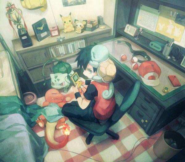 Red qui joue à la game boy