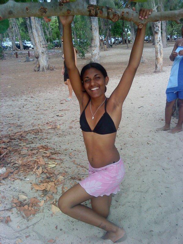 Mwa et mé namiz a la plage