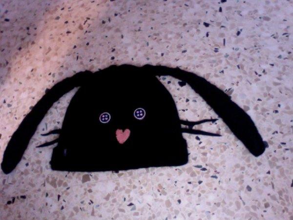 Bonnet Lapin noir