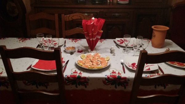 la table de noel chez maman