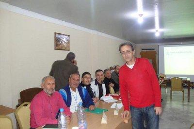 Le Président de la Fédération Algérienne de Tennis Mr AZZI Abdelhalim a clôturé le colloque « La préparation du joueur de tennis de haut niv eau ».