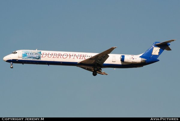 9A-CDE 48066/1019 MD-82 Dubrovnik Airlines