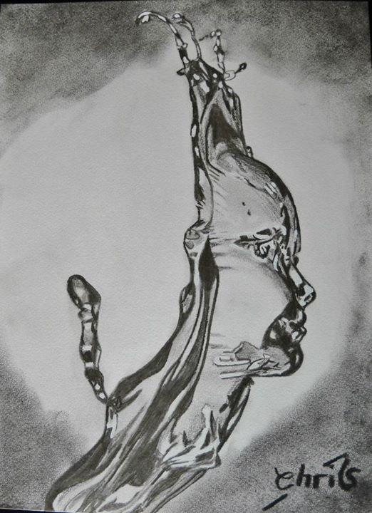 Très dessin original au crayon à papier - Chris,mes peintures,ma passion HC66