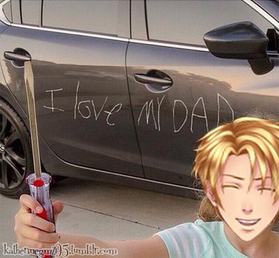 Nathaniel aime son père et il le montre !