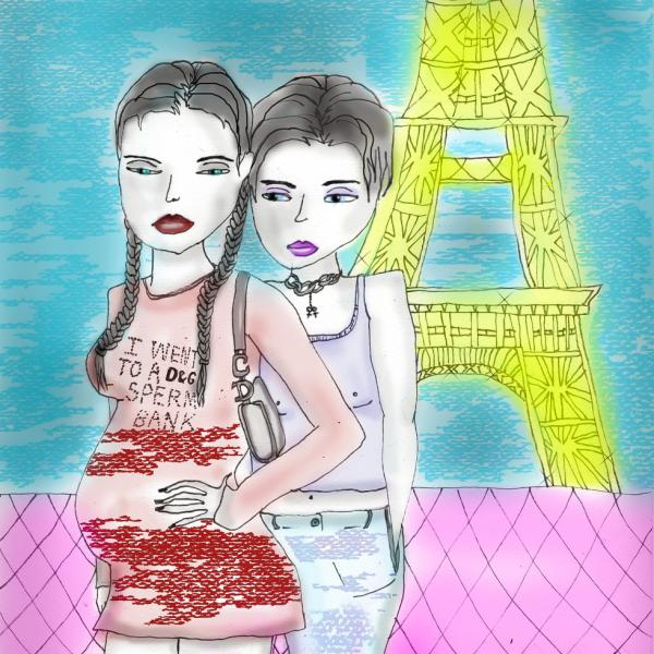 deux amours, les filles & paris