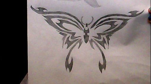 dessin papion tribal