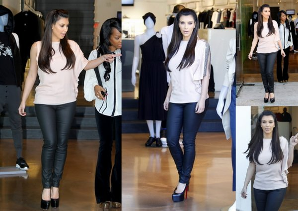 Kim fait son shopping + va diner avec sa mere